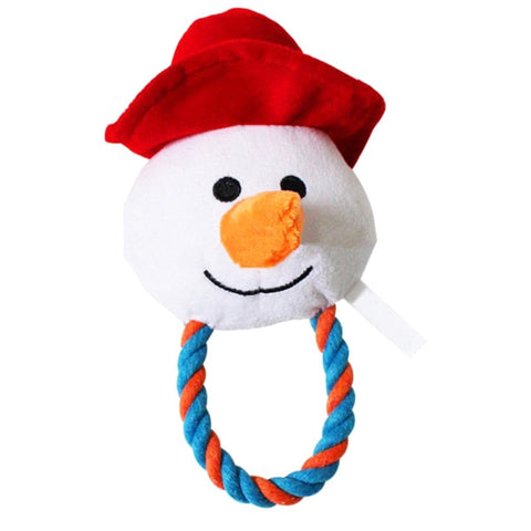 Image of Christmas Plush Dog Toy / Teeth Cleaning with Sounder Santa Claus Snowman -  Sport Pet Shop