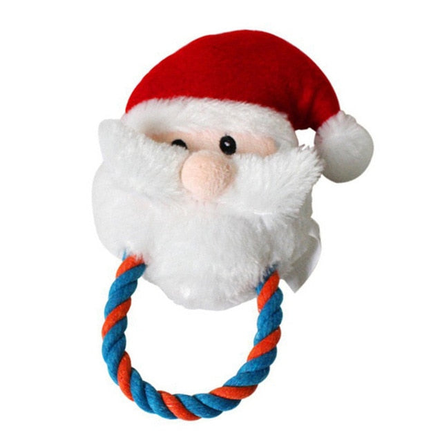 Christmas Plush Dog Toy / Teeth Cleaning with Sounder Santa Claus Snowman -  Sport Pet Shop