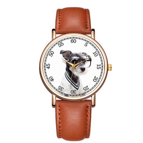 Image of Lovely Pet Style Watch Unisex Genuine Leather