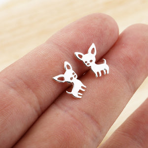 Tiny Chihuahua Earrings for Women