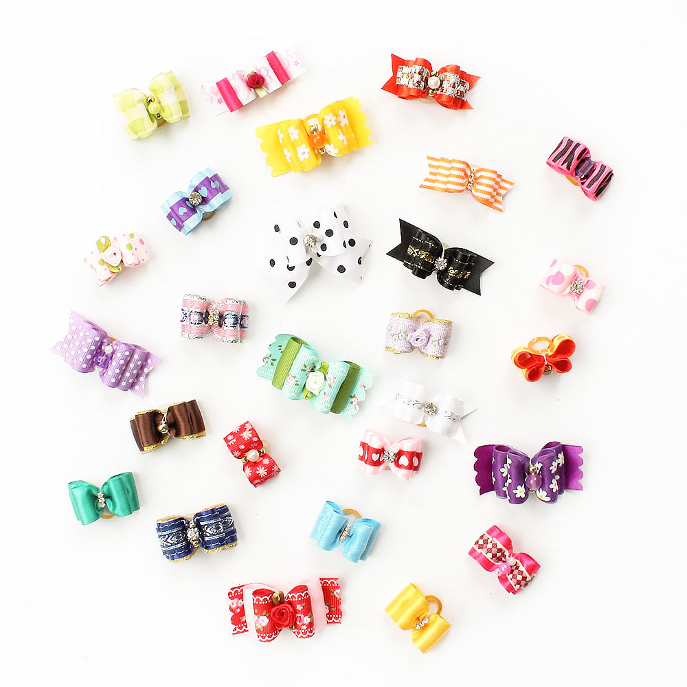 60 Pcs Wholesale Handmade Dog Bow For Small Dogs -  Sport Pet Shop
