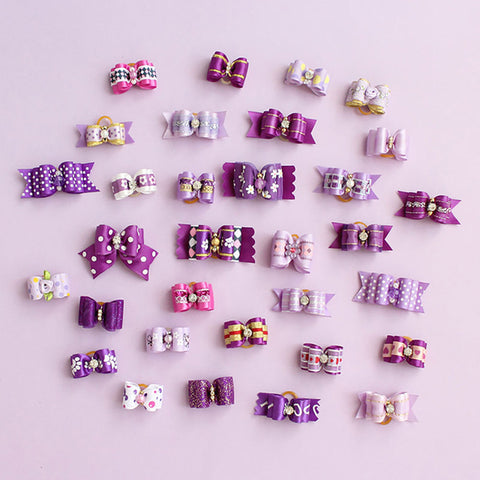 60 Pcs Wholesale Handmade Dog Bow For Small Dogs