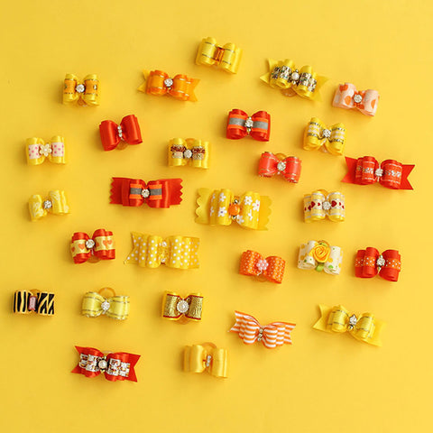 Image of 60 Pcs Wholesale Handmade Dog Bow For Small Dogs -  Sport Pet Shop