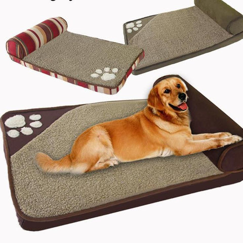 Image of Dog Beds for Large Dogs - Sofa Kennel Square Pillow -  Sport Pet Shop