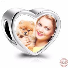 Image of Sweet Custom Photo Charms Bracelet With Claw For Pet Lovers