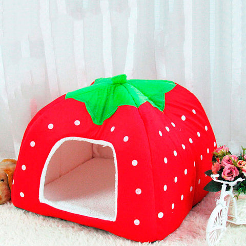 Image of Cat Dog Kennel Cushion Strawberry -  Sport Pet Shop