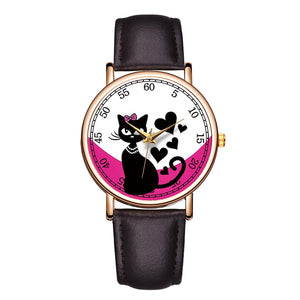 Lovely Cat Pet Painting Watches For Women -  Sport Pet Shop