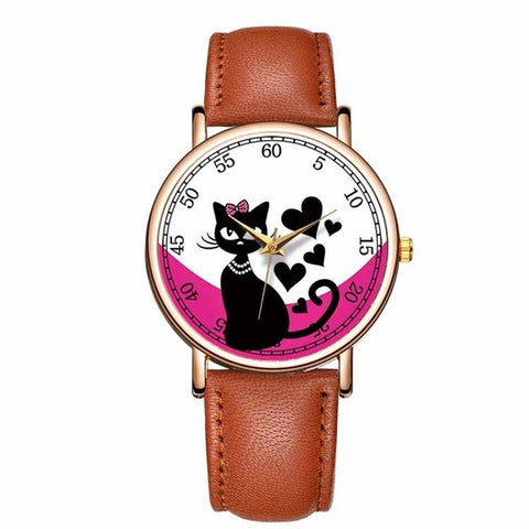 Lovely Cat Pet Painting Watches For Women