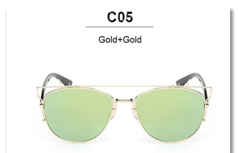 Fashion Mirror Men or Women Sunglasses Cat Eye