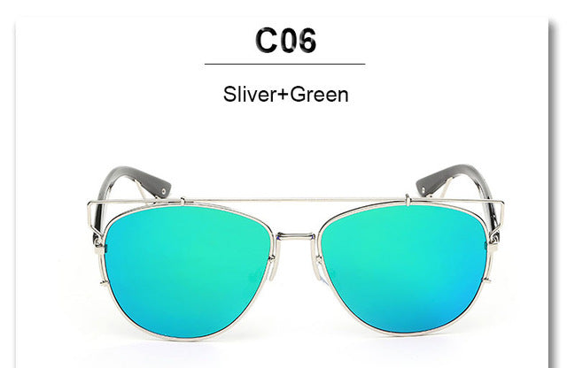 Fashion Mirror Men or Women Sunglasses Cat Eye -  Sport Pet Shop