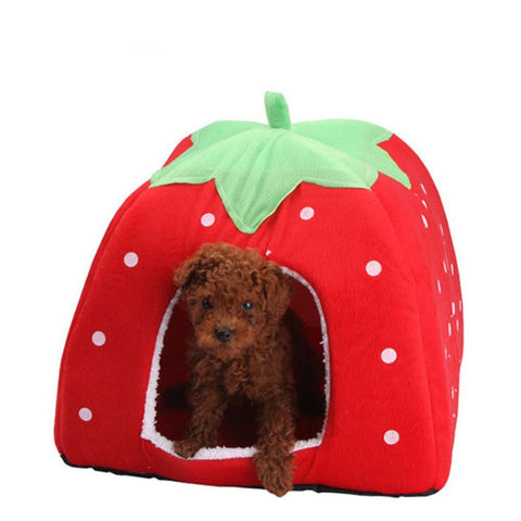 Fashion Soft Dog House/Bed Strawberry Shape