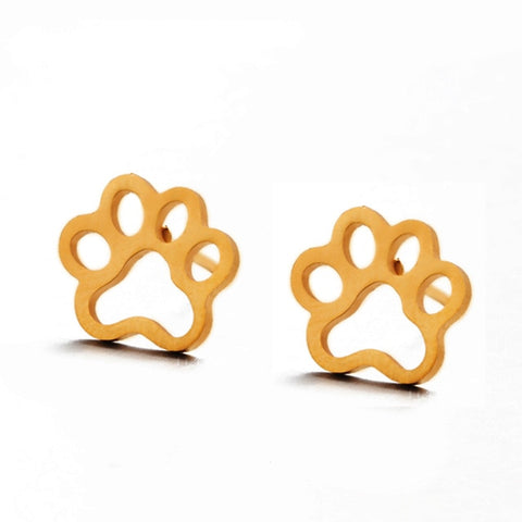 Image of Minimalist Golden and Silver Stainless Steel Animal Cute Stud Earrings -  Sport Pet Shop