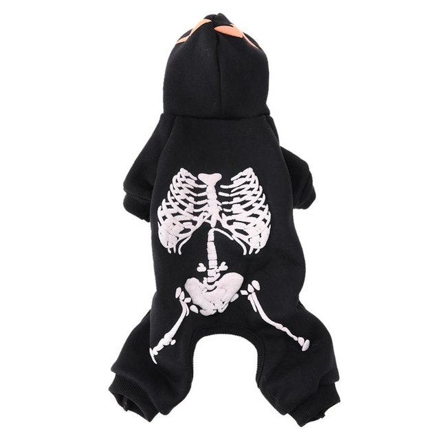 Dog Puppy Costume Halloween Skull Design/ Glow at Night -  Sport Pet Shop