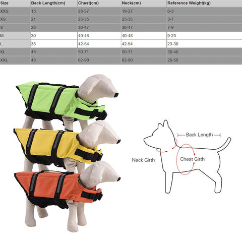 Dog Life Float Vest Water Swimming Safety /Reflecting Clothing