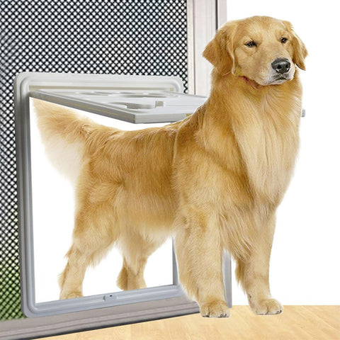 Image of Lockable Magnet Control Dog Door / Security Flap Gates Pet Tunnel