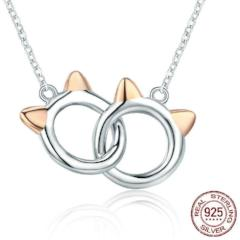 Cat Link Pendant Necklace For Women