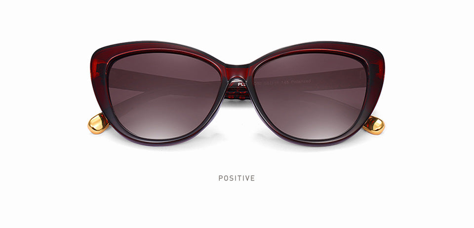 Women Cat Eye Polarized Sunglasses / Retro Style