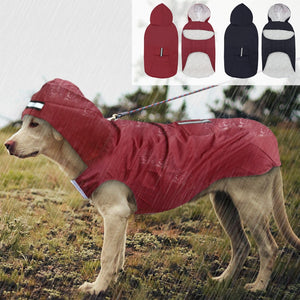 Large Dog Raincoat Waterproof  for Big Dog