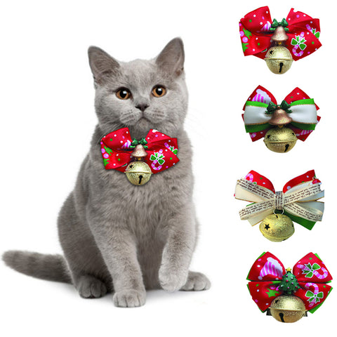 Christmas Bow Tie Cat Necklace