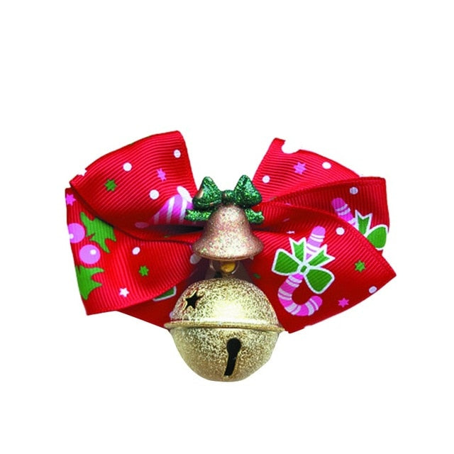 Christmas Bow Tie Cat Necklace -  Sport Pet Shop