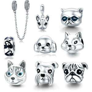 Many types Lovely Dog and Cat / Pets Charm fit Original Pandora Bracelet