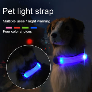 Straps Security Warning Lights Dog Collar /LED Light -  Sport Pet Shop