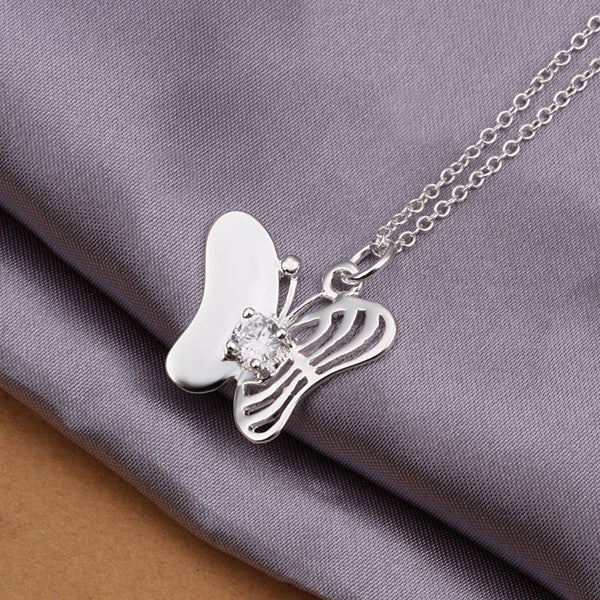 fine fashion sweet Butterfly with crystal stone necklace -  Sport Pet Shop