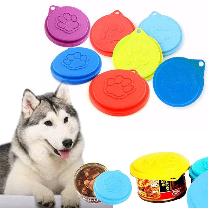 Dog / Cat Food Storage / Tin Cover /  Reusable -  Sport Pet Shop