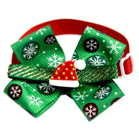 Image of New Christmas Dog Bow Ties Collar With Bell -  Sport Pet Shop