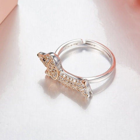 Dachshund Puppy Open Ring For women