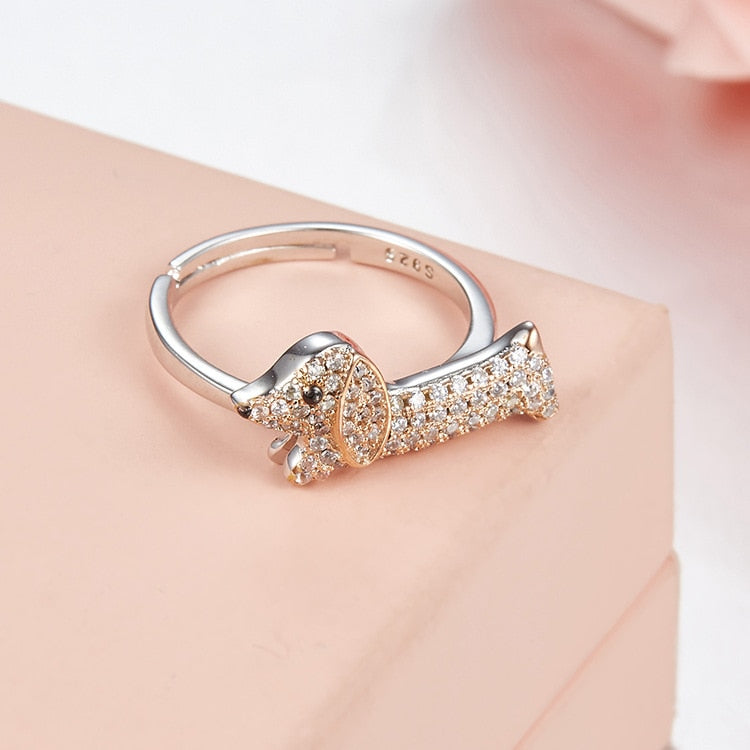 Dachshund Puppy Open Ring For women -  Sport Pet Shop