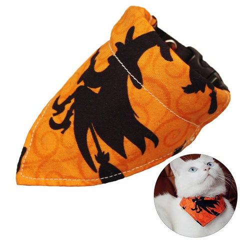 Image of Fashion Halloween Cat Bandana -  Sport Pet Shop