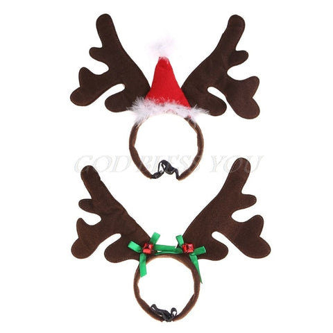 Image of Christmas Pet Headband Deer Horn Hat -  Sport Pet Shop