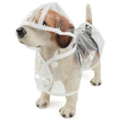 Image of Waterproof Dog Raincoat with Hood Transparent -  Sport Pet Shop