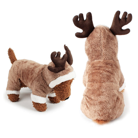 Image of Cosplay Christmas Deer Pet Costume Clothes -  Sport Pet Shop