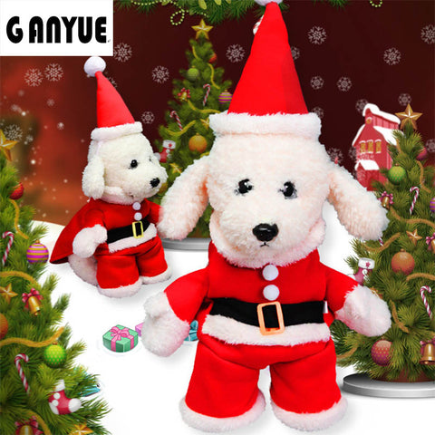 Image of Santa Claus Dogs Costume Christmas Dress -  Sport Pet Shop