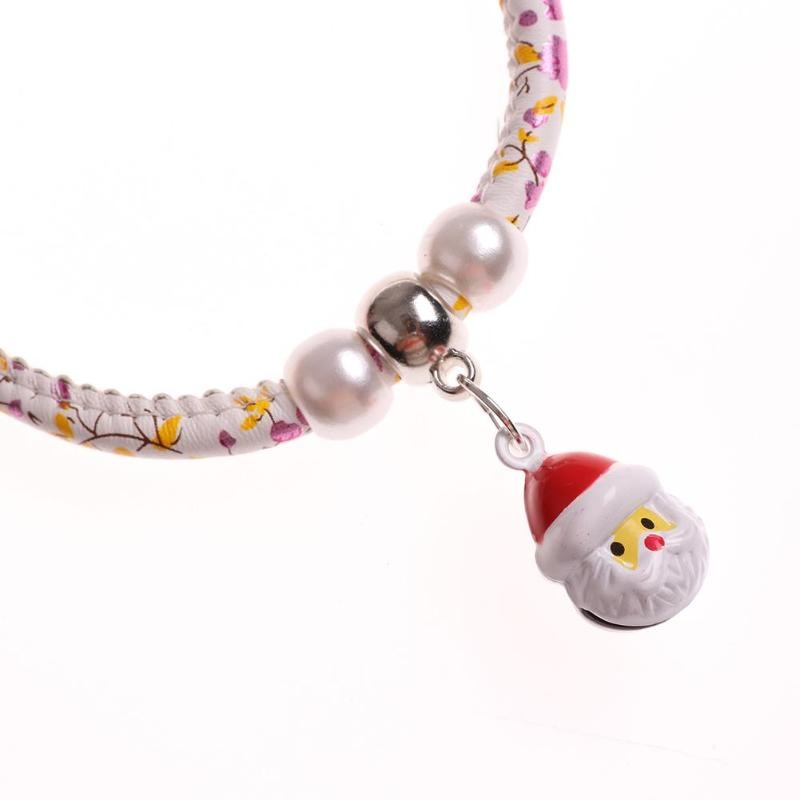 Christmas Santa Claus Bells Necklace collar -  Sport Pet Shop