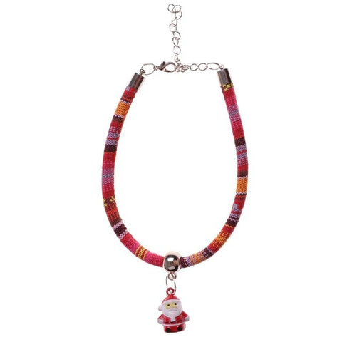 Image of Christmas Santa Claus Bells Necklace collar