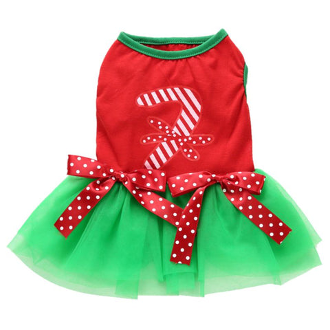 Image of Christmas Princess Cartoon Clothes For Small Dog -  Sport Pet Shop