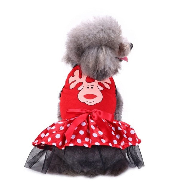 Christmas Princess Cartoon Clothes For Small Dog -  Sport Pet Shop