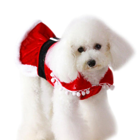 Image of Dog Dress Puppy Pets Clothing Christmas/ New Year