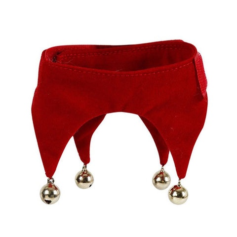 Image of New Hot Red Christmas Pet Jingling Bell Scarf Bandana