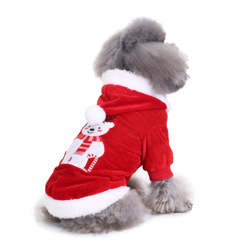 Image of Comfortable Dog Christmas Bear Clothes