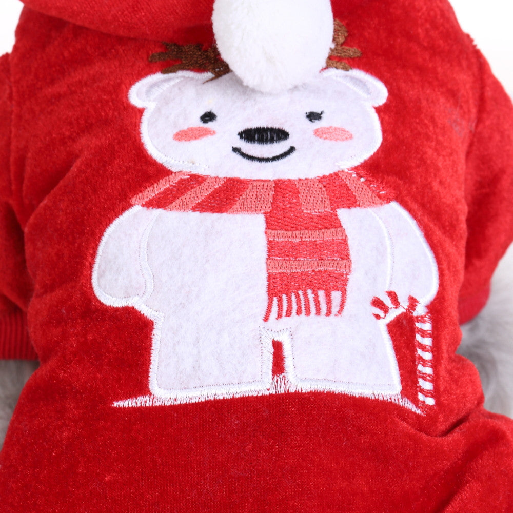 Comfortable Dog Christmas Bear Clothes