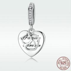 Silver Love of Cat Cute Pendant Charm / fit Bracelet /Necklace