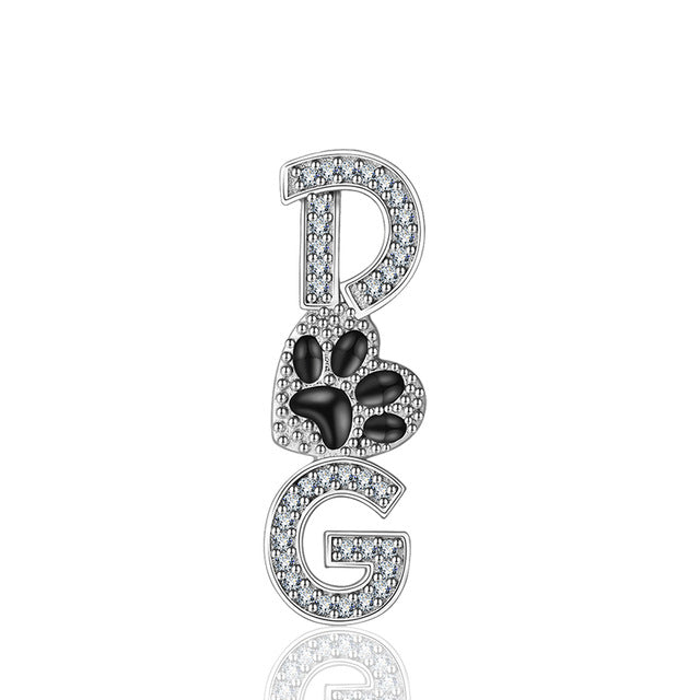 925 Sterling Silver Zircon Dog Pendant Necklaces for Women -  Sport Pet Shop