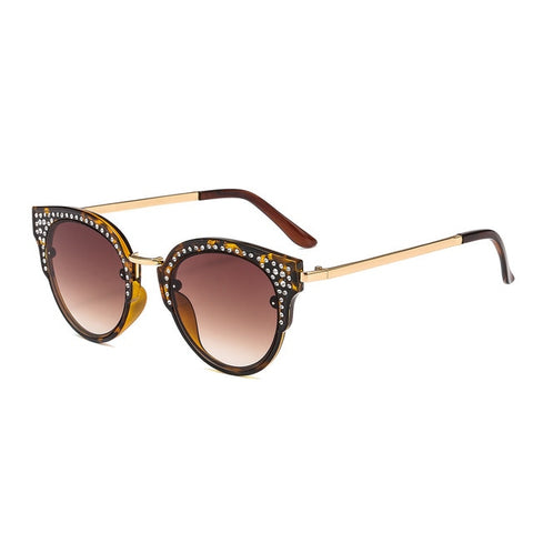 Luxury Crystal Rhinestone Cat Sunglasses