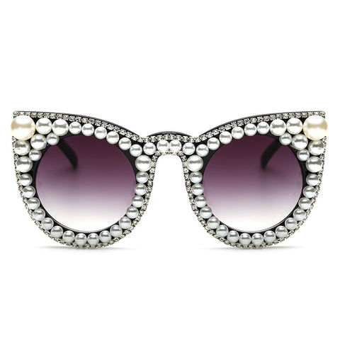 Image of Vintage Women Pearl Sunglasses / Sexy Cat Eye