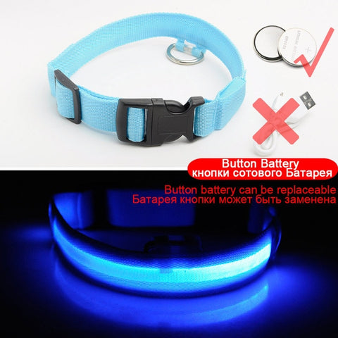 Image of Glowing LED Dog Collar /Anti-Lost Nylon Light Collar For Dogs -  Sport Pet Shop