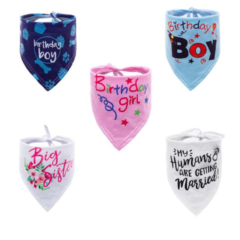 Image of 5 Colors Cat / Dog Bandana Bibs Scarf Collar /  Waterproof -  Sport Pet Shop